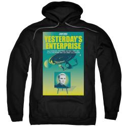 Image for Star Trek the Next Generation Juan Ortiz Episode Poster Hoodie - Season 3 Ep. 15 Yesterday's Enterprise on Black