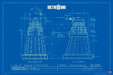 Image for Doctor Who Poster - Tardis Blueprint