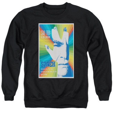 Image for Star Trek the Next Generation Juan Ortiz Episode Poster Crewneck - Season 3 Ep. 23 Sarek on Black