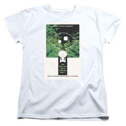 Image for Star Trek the Next Generation Juan Ortiz Episode Poster Womans T-Shirt - Season 3 Ep. 25 the Best of Both Worlds Part I