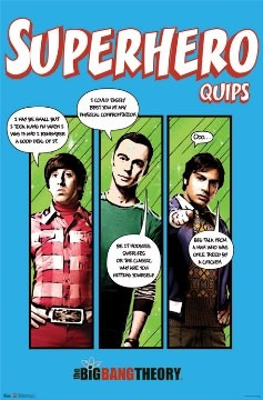 Image for Big Bang Theory Poster - Superhero Quips