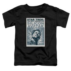 Image for Star Trek the Next Generation Juan Ortiz Episode Poster Toddler T-Shirt - Season 5 Ep. 4 Silicon Avatar on Black