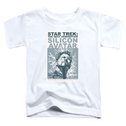 Image for Star Trek the Next Generation Juan Ortiz Episode Poster Toddler T-Shirt - Season 5 Ep. 4 Silicon Avatar
