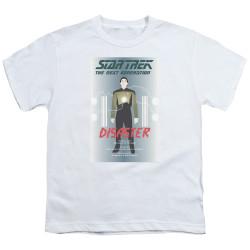 Image for Star Trek the Next Generation Juan Ortiz Episode Poster Youth T-Shirt - Season 5 Ep. 5 Disaster