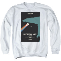 Image for Star Trek the Next Generation Juan Ortiz Episode Poster Crewneck - Season 5 Ep. 6 Unification Part I