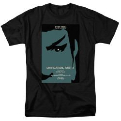 Image for Star Trek the Next Generation Juan Ortiz Episode Poster T-Shirt - Season 5 Ep. 7 Unification Part II on Black