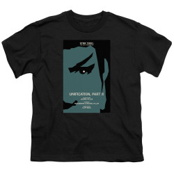 Image for Star Trek the Next Generation Juan Ortiz Episode Poster Youth T-Shirt - Season 5 Ep. 7 Unification Part II on Black