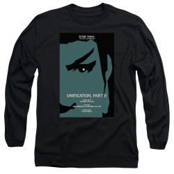 Image for Star Trek the Next Generation Juan Ortiz Episode Poster Long Sleeve Shirt - Season 5 Ep. 7 Unification Part II on Black