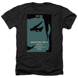 Image for Star Trek the Next Generation Juan Ortiz Episode Poster Heather T-Shirt - Season 5 Ep. 7 Unification Part II on Black