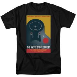 Image for Star Trek the Next Generation Juan Ortiz Episode Poster T-Shirt - Season 5 Ep. 13 the Masterpiece Society on Black