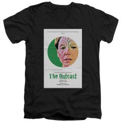 Image for Star Trek the Next Generation Juan Ortiz Episode Poster V Neck T-Shirt - Season 5 Ep. 17 the Outcast on Black