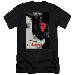 Image for Star Trek the Next Generation Juan Ortiz Episode Poster Premium Canvas Premium Shirt - Season 5 Ep. 23 I, Borg on Black