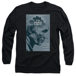 Image for Star Trek the Next Generation Juan Ortiz Episode Poster Long Sleeve Shirt - Season 5 Ep. 25 the Inner Light on Black