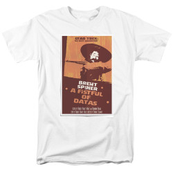 Image for Star Trek the Next Generation Juan Ortiz Episode Poster T-Shirt - Season 6 Ep. 8 A Fistful of Datas