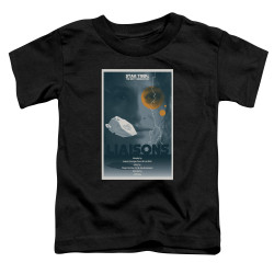 Image for Star Trek the Next Generation Juan Ortiz Episode Poster Toddler T-Shirt - Season 7 Ep. 2 Liaisons on Black