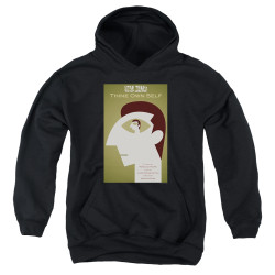 Image for Star Trek the Next Generation Juan Ortiz Episode Poster Youth Hoodie - Season 7 Ep. 16 Thine Own Self on Black