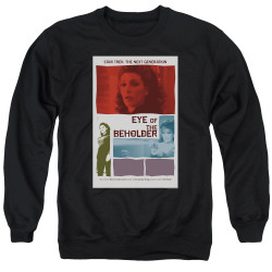 Image for Star Trek the Next Generation Juan Ortiz Episode Poster Crewneck - Season 7 Ep. 18 Eye of the Beholder on Black