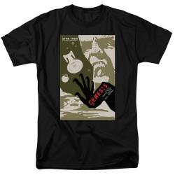 Image for Star Trek the Next Generation Juan Ortiz Episode Poster T-Shirt - Season 7 Ep. 19 Genesis on Black