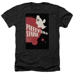 Image for Star Trek the Next Generation Juan Ortiz Episode Poster Heather T-Shirt - Season 7 Ep. 24 Preemptive Strike on Black