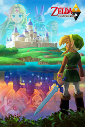 Image for Legend of Zelda Poster - A Link Between Worlds