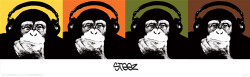 Image for Steez Poster - Headphone Monkey Quad