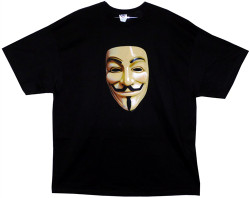 Image Closeup for V for Vendetta Guy Fawkes Mask T-Shirt