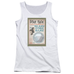 Image for Star Trek Juan Ortiz Episode Poster Juniors Tank Top - Ep. 51 By Any Other Name