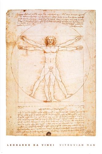 Image for DaVinci Poster - Vitruvian Man