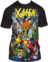 Image Closeup for X-Men T-Shirt - the Gang Subway