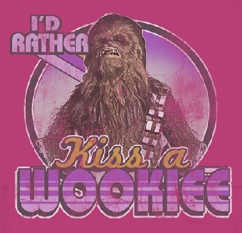 Image for Star Wars Juniors T-Shirt - I'd Rather Kiss A Wookie