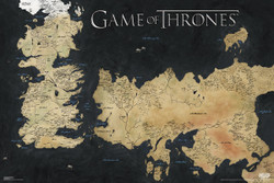 Image for Game of Thrones Poster - Map of Westeros