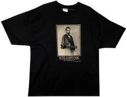Image Closeup for Steam Punk Abe Lincoln T-Shirt