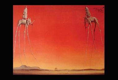Image for Salvador Dali Poster - Les Elephants