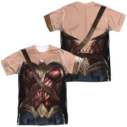 Image for Wonder Woman Sublimated T-Shirt - JLA Movie Uniform 100% Polyester