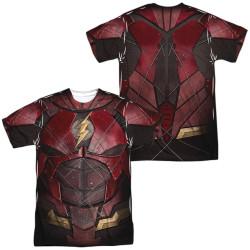 Image for Flash Sublimated T-Shirt - JLA Movie Uniform 100% Polyester
