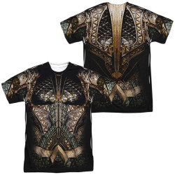 Image for Aquaman Sublimated T-Shirt - JLA Movie Uniform 100% Polyester