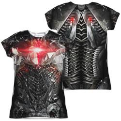 Image for Cyborg Girls T-Shirt - Sublimated JLA Movie Uniform