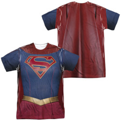 Image for Supergirl Sublimated T-Shirt - Uniform 100% Polyester