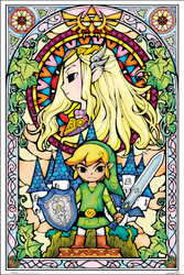 Image for Zelda Poster - Stained Glass