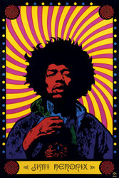 Image for Jimi Hendrix Poster - Psychedelic