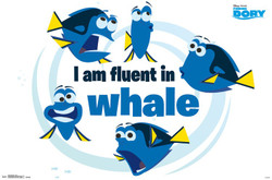 Image for Finding Dory Poster - Fluent In Whale