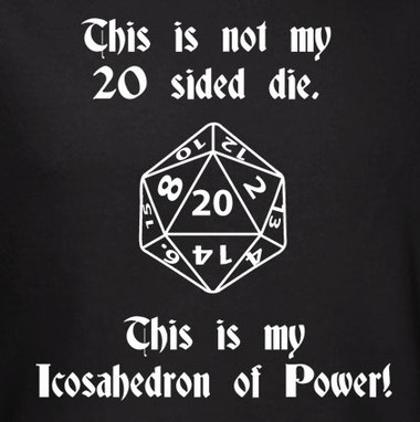 Image for This is not my 20 Sided Die T-Shirt