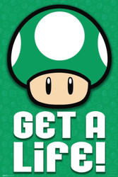 Image for Mario Poster - 1 Up Get A Life