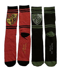 Image for Harry Potter Gryffindor Slytherin Crest 2 Pack Socks