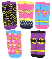 Image for DC Comics Assorted Logos 5 Pack Low Cut Socks