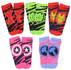 Image for Avengers Logos 5 Pack Low Cut Socks