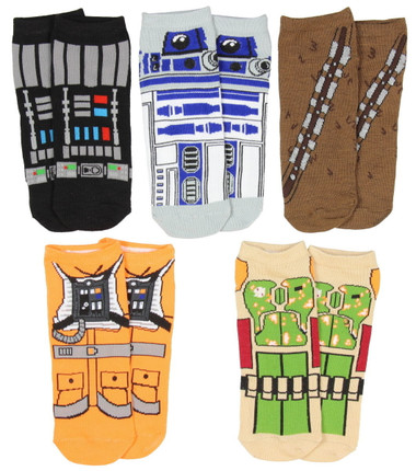 Image for Star Wars Chests 5 Pack Low Cut Socks