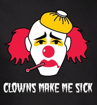 Image for Clowns Make Me Sick T-Shirt