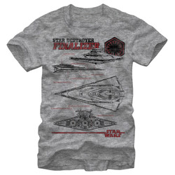 Image for Star Wars Death Triangle Heather T-Shirt