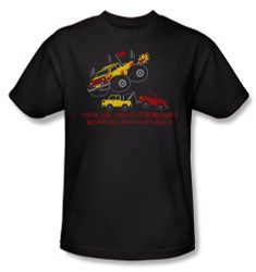 Image Closeup for There are Very Few Problems a Monster Truck Can't Solve T-Shirt
